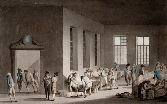 The Treatment of Wounded Soldiers in a Ward of a Hospital