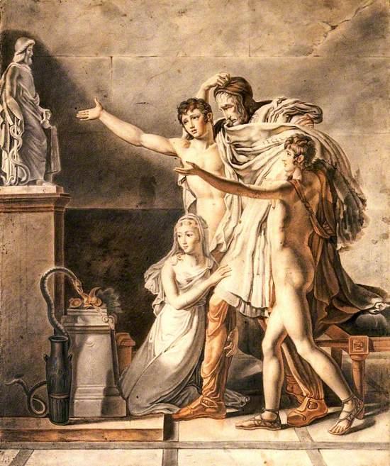Four People Praying to Aesculapius