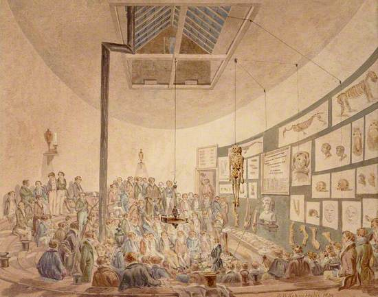 A Lecture at the Hunterian Anatomy School, Great Windmill Street, London