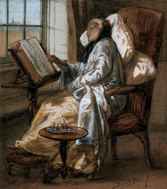 A Convalescent Young Woman Reading