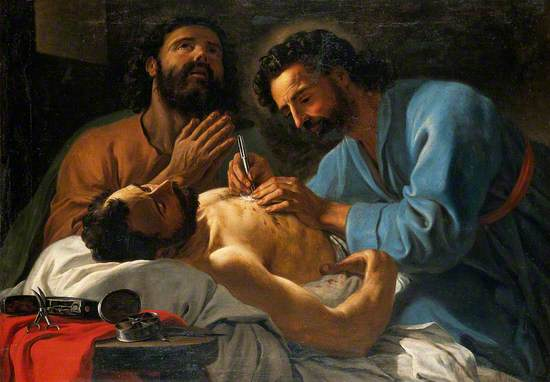 Saint Cosmas and Saint Damian Dressing a Chest Wound