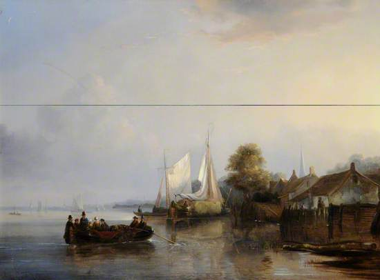 Figures and Barges in an Estuary