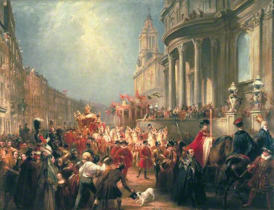 Queen Victoria's Procession to the Guildhall, 9 November 1837