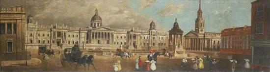Trafalgar Square from Spring Gardens, London