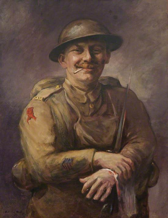 Portrait of a Wounded Argyll Soldier