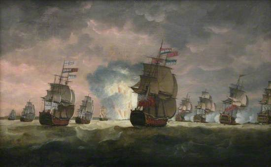 Admiral Rodney's Victory off Cape St Vincent