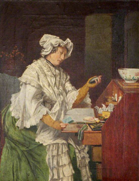 There's Joy in Remembrance (Portrait of a Lady at Her Desk)