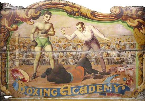Billy Wood and Son 'Boxing Booth': Fight between Billy Wood and Arnold 'Kid' Shepherd