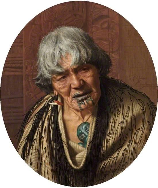 A Māori Chieftainess (Harata Rewiri Tarapata, 1831–1913)
