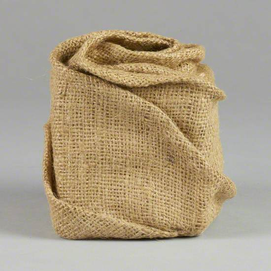 121 Linked Cubes: Cube Covered in Loosely Swathed Jute Fabric