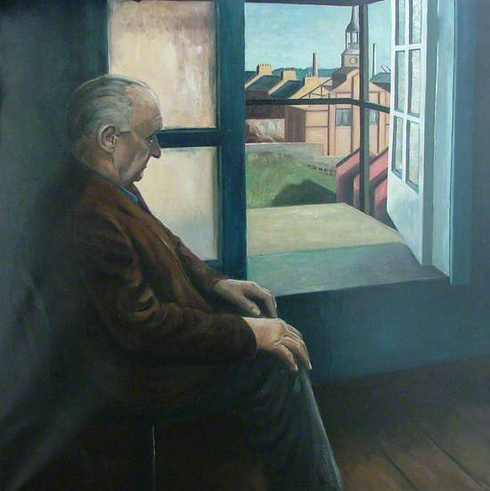 Untitled (Elderly Man by Window, Dens Works, Dundee)