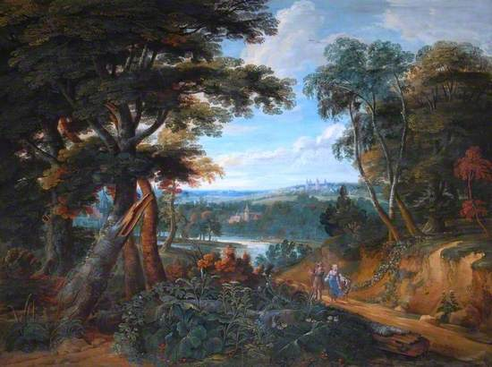 Landscape with Figures and a Château