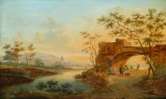 Landscape with River and Sunset