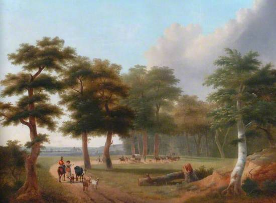 Landscape with a Military Convoy
