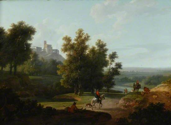 Landscape with Figures and a Castle on a Hill