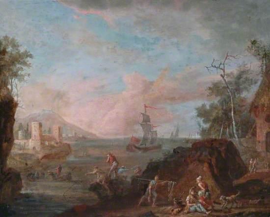 Coast Scene with Figures