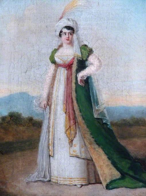 A Lady in Oriental Fancy Dress