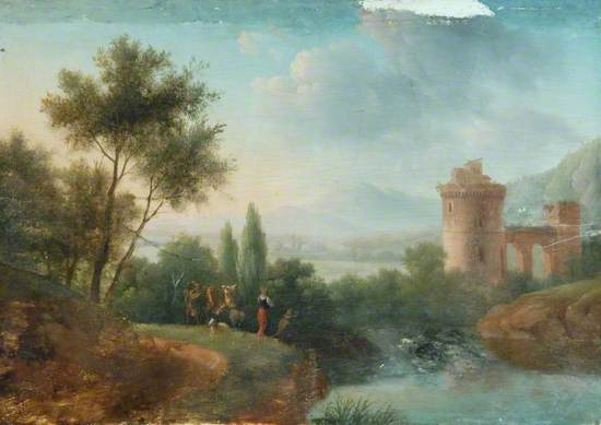Landscape with Cattle and a River
