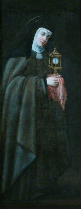 St Clare Holding a Monstrance