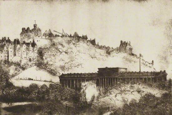 National Gallery and Castle, Edinburgh