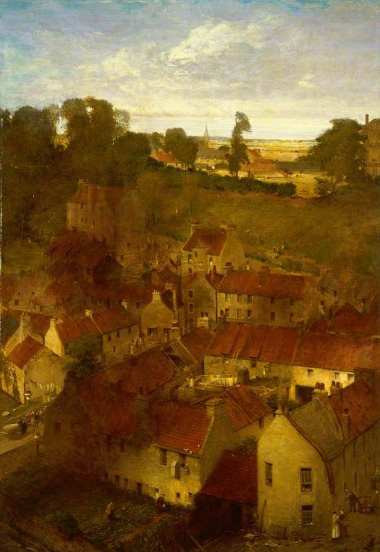The Village of the Water of Leith from a Window in Rothesay Terrace