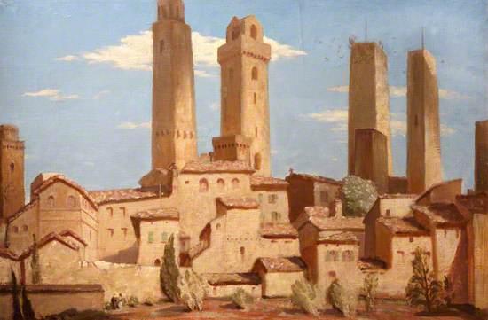 San Gimignano, Italy, 1925