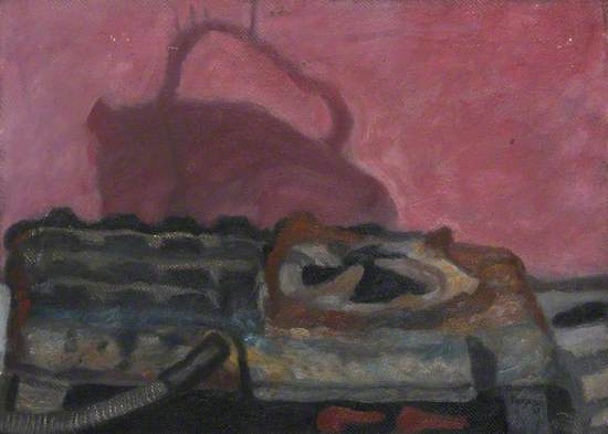 Still Life with Shadow of Kettle