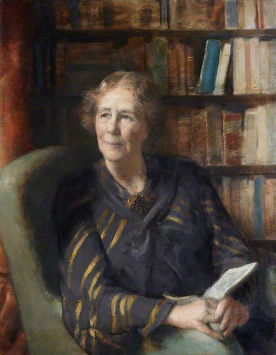 Portrait of a Woman before a Bookcase
