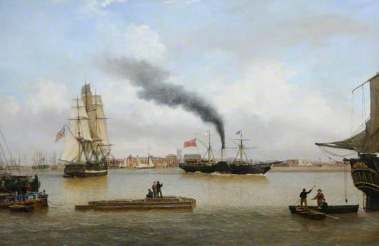 PS 'Forfarshire' Leaving Hull for Dundee