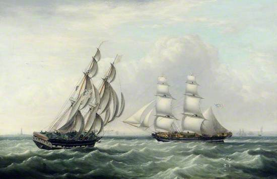 The Snow 'Chase' and the Brig 'Dagger'