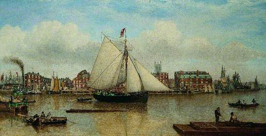 Hull from the Humber (The Buoy Yacht 'Zephyr')