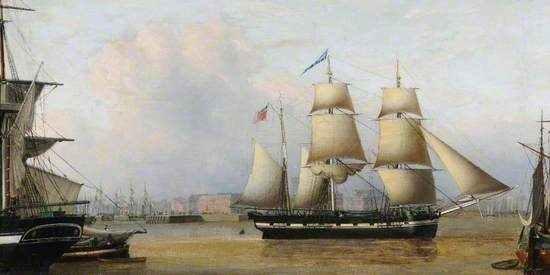 Hull Docks with the Barque 'Edward' and the Snow 'William'