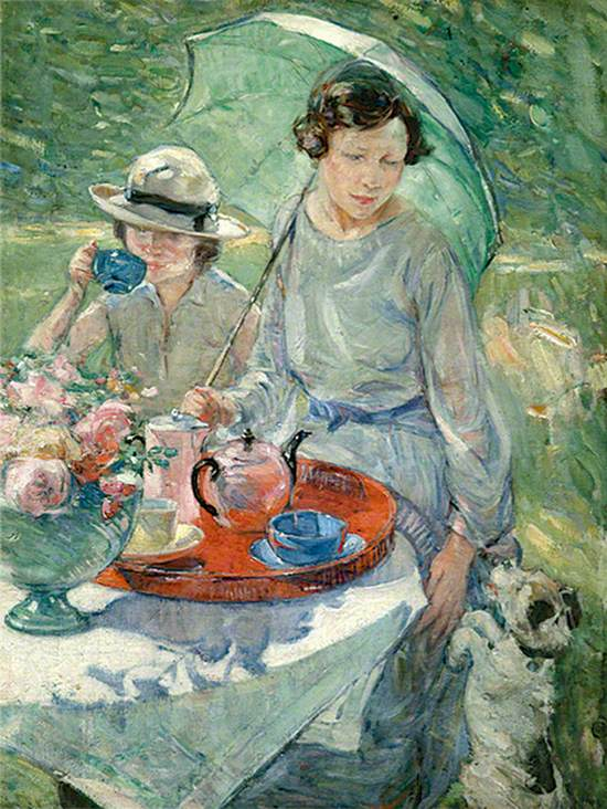 Tea Table in the Garden