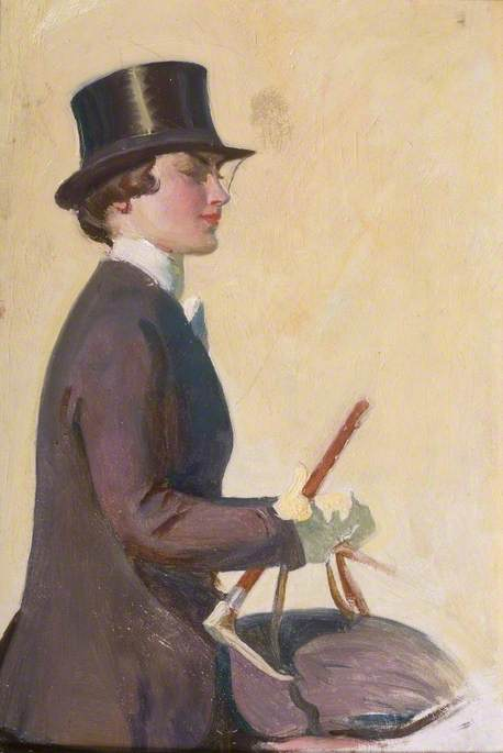 Study of Lady Munnings for 'Our Mutual Friend the Horse'