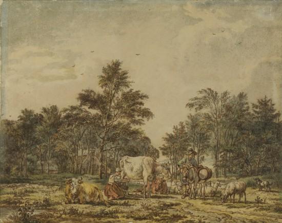 Woman Milking (Pastoral Scene)