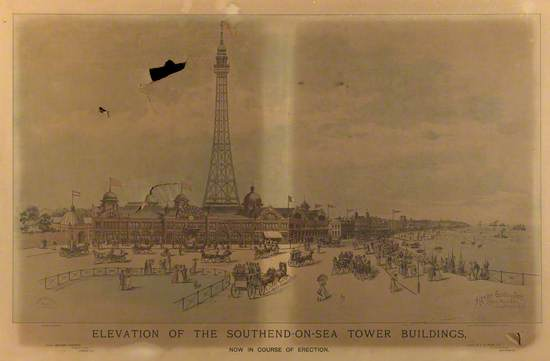 Elevation of the Southend-On-Sea Tower Buildings