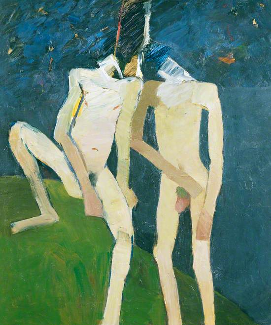 Bathers by a Green Bank