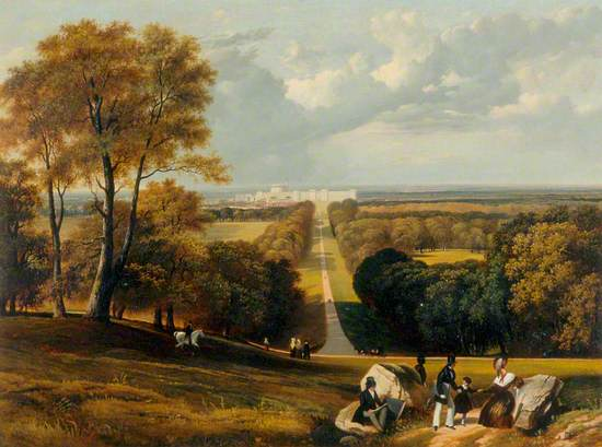 Windsor Great Park: View of the Long Walk