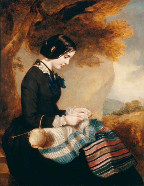 Mary Isabella Grant (d.1854), Knitting a Shawl