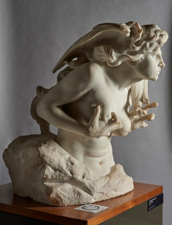 Audio description of 'The Harpy Celaeno' by Mary Pownall