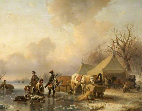 Winter Scene with a Sleigh