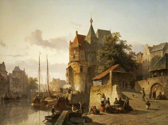 Fortified Buildings on the Banks of a Canal