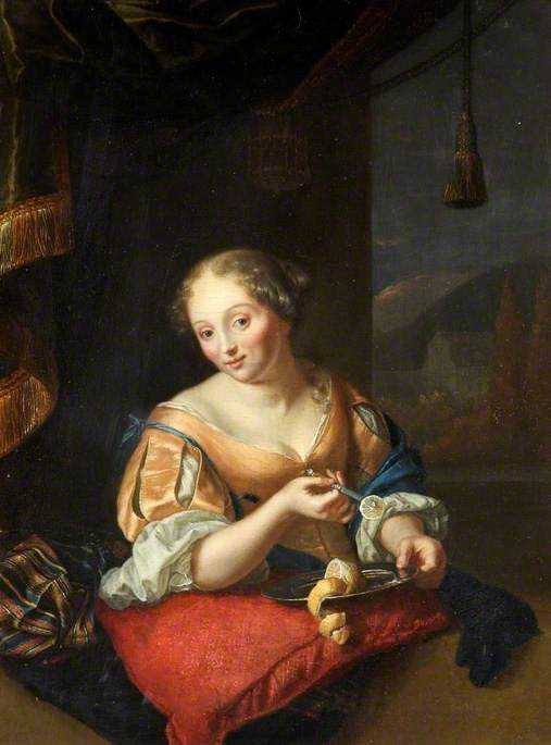 Portrait of a Lady Slicing a Lemon