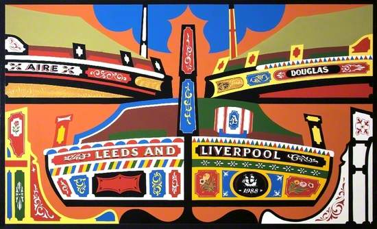 Mural Panel (Leeds and Liverpool Short Boats)
