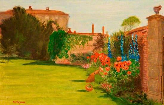 Burderop Park, Wroughton, Wiltshire, Mrs Calley in the Garden
