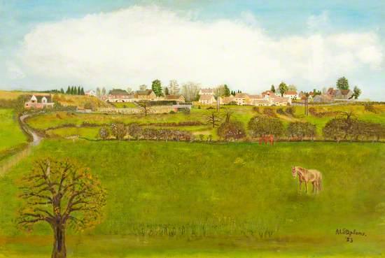 Springtime in Mill Lane, Swindon, Wiltshire
