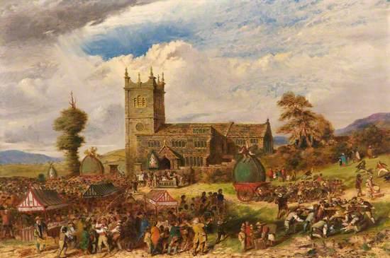 Rushcart Festival at Saddleworth Church, Yorkshire