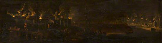 Aeneas and Anchises Fleeing the Burning of Troy