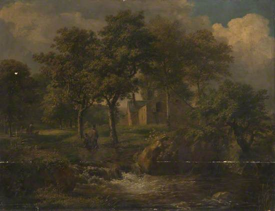 Landscape with Boys Fishing