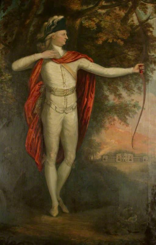 Sir Thomas Egerton, Bt, as an Archer in Heaton Park